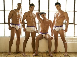 Sexy Muscle Men in White Underwear - Pictures Gallery 10