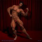 3D Model Muscle Hunk