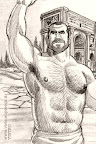 Sexy Muscle Hunks Comic