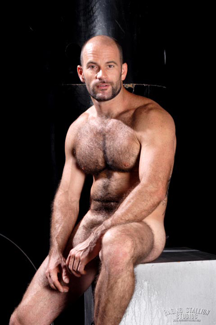 Hairy Muscle Hunk - Aaron Action