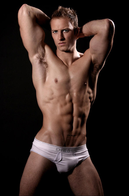 Sexy Muscle Men in White Underwear 5