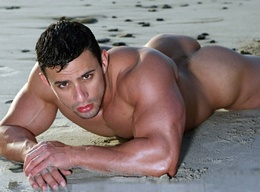 Sexy Muscle Men - On the Beach