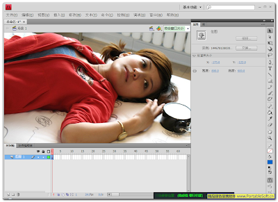 Adobe Flash CS4 Pro 简体中文绿色特别版 (点击放大)