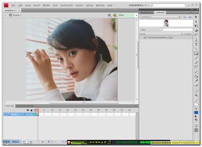 Adobe Flash CS4 Pro 英文绿色特别版 (点击放大)