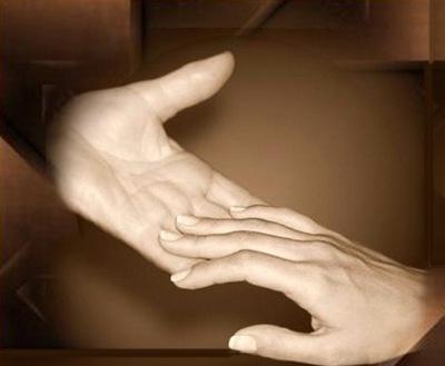 encuentro de dos manos