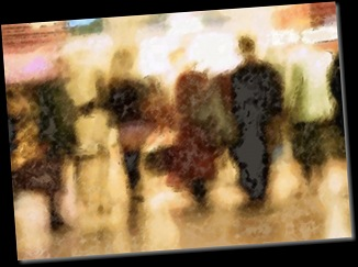 People-walking-together,-rear-view,-blurred_-pop-art-cutout-23_wallpaper