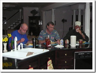 Randy, Alan, & Jim enjoying the fish fry