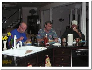 Randy, Alan, & Jim enjoying the fish fry