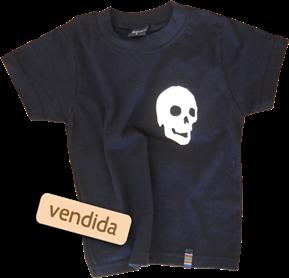 Camiseta-infantil-caveira-preta-vendida