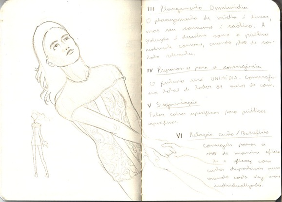 sketch do dia menina voando midia