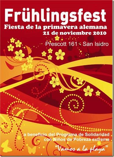 Afiche Frühlingsfest 2010