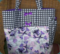 black and purple diaper bag 1