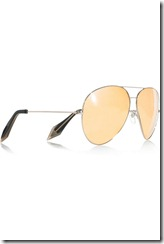 Victoria Beckham 18-karat rose gold mirrored aviator sunglasses