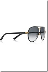 Gucci Leather-frame aviator sunglasses