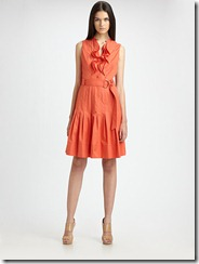 Akris Punto Ruffle Front Pleated Dress