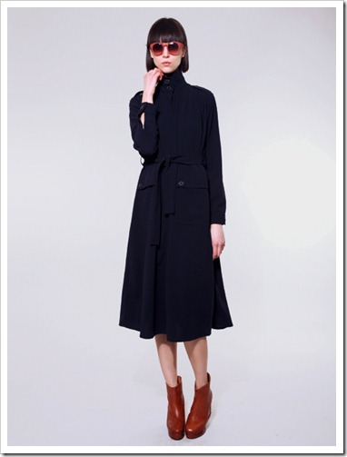 Rodebjer navy trench coat dress