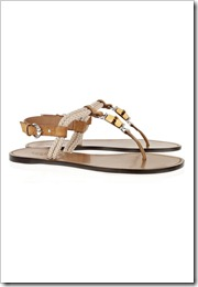 Gucci Bamboo-detailed rope and leather flat sandals