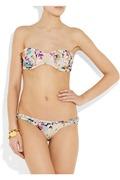 Zimmermann Posy ruffled floral-print bandeau bikini b