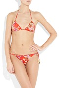 Zimmermann Embellished floral-print triangle bikini b