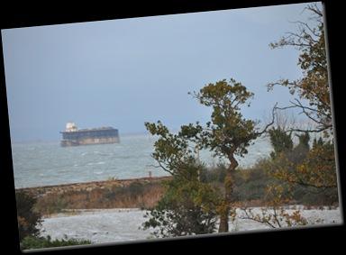 View over stormy seas Nov 2010