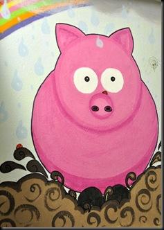 Piggy in loo