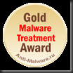 Gold Malware Treatment Award for avast! Professional Edition