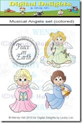 Musical Angels watermark set colored
