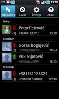 Screenshot of SMS Obaveštenja