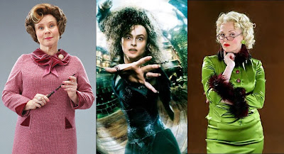(L-R) Dolores Umbridge, Bellatrix Lestrange, Rita Skeeter
