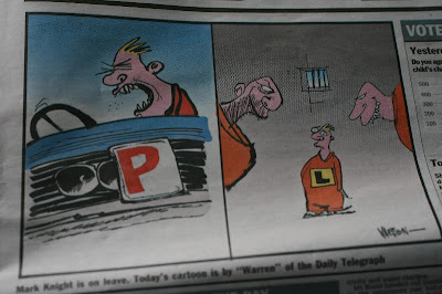 Editorial cartoon from the Melbourne Herald Sun 08/01/09