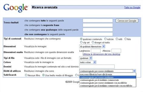google_immagini_diritto_utilizzo