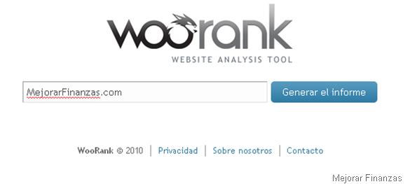 herramienta seo woorank blogs