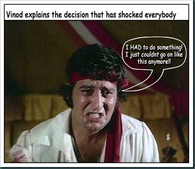 Vinod Khanna's tough decision - 1