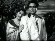 Ashok Kumar and Madhubala in Ek Saal