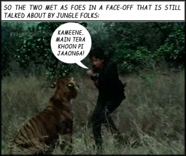 Shashi fights the tiger