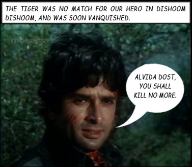 Shashi killed the tiger