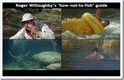 Rock Hudson demonstrates how not to fish!
