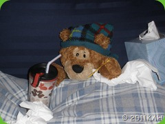Sleepy Bear Sick In Bed - Day 1