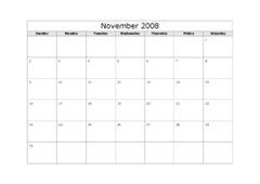 calendar-November-2008