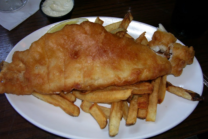 An order of fish and chips from Ri Ra Irish pub in Evansville, Indiana