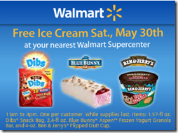 Walmart Free Ice Cream Saturday