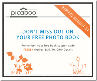Picaboo Free Photo Book Offer