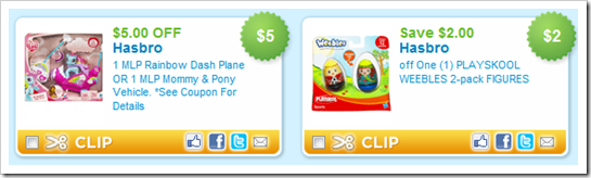 Hasbro PlaySaver Coupons Updated Again