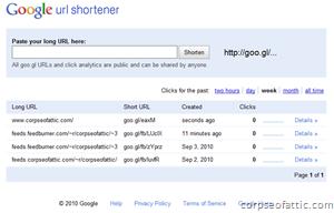 goo.gl - Google URL shorrtener
