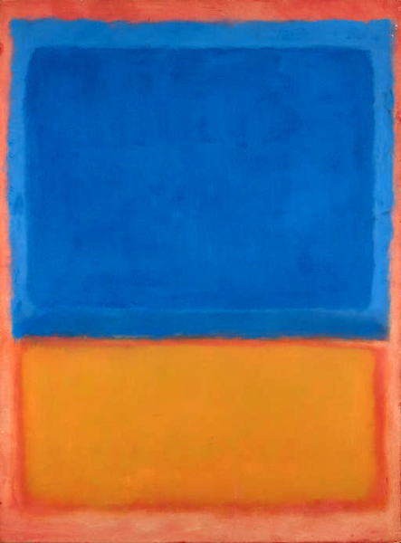 Марк Ротко. Без названия (красный, синий, оранжевый)