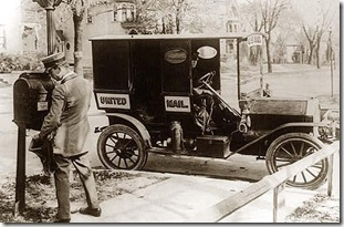 old-time mailman photo