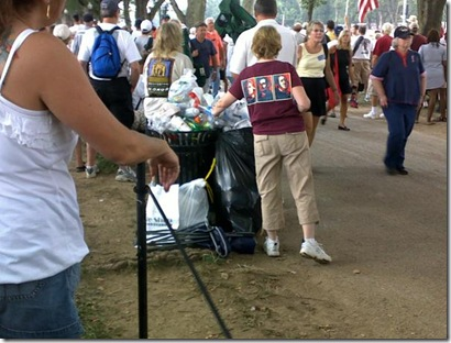 Patriots Clean-up On Their Way Out From Restore Honor Rally