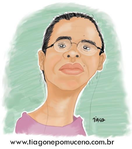 Caricatura da Marina Silva
