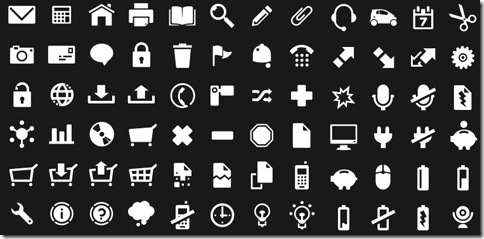 Here are 100 fully scalable pictograms icons free to download