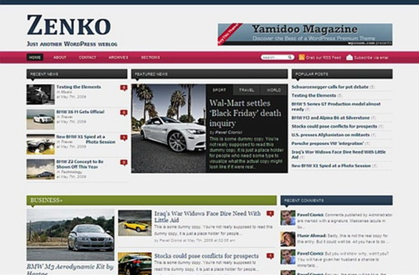Zenko Magazine - WpZoom Premium Wordpress Themes